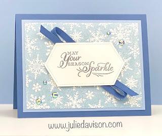Stampin' Up! Winter Snow Inked Embossing Folder + VIDEO ~ Aug-Dec 2020 Mini Catalog ~ www.juliedavison.com #stampinup