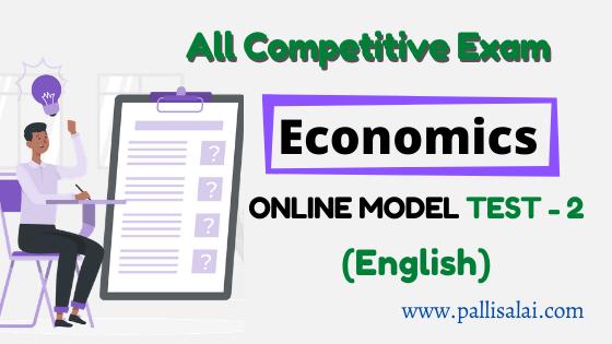 Economics Online Mock Test 2 (English)