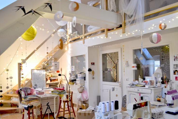 Rue rivoirette inspiration atelier couture for Meuble atelier couture