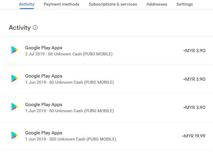 Setting Google Profile Elak Pembayaran/Pembelian Tidak Sah