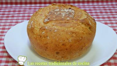 Receta fácil de pan rápido sin reposos de jamón y queso