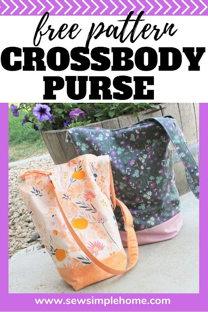 Use this free purse pattern to create your own crossbody purse with simple zipper pocket and divider to keep your purse organized.