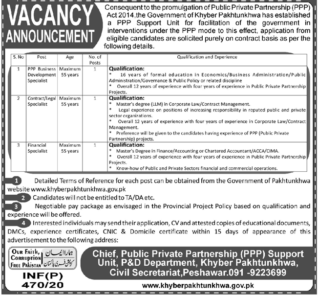 Jobs in Public Private Partnership PPP latest Vacancies 2020