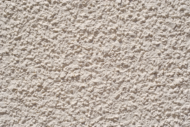 Creamy white stucco plaster