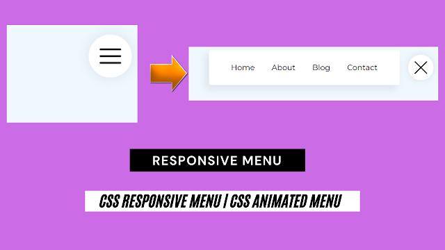 css responsive menu   CSS animated Menu