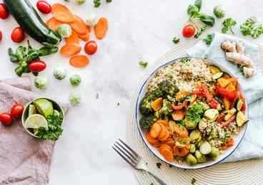 Raw vegetable diet