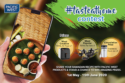 JOIN CONTEST #TASTEATHOME PACIFIC WEST DAN MENANG SET AIR FRYER TEFAL