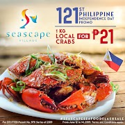 1 KG of crabs for P2 only at Seascape Village Independence Day Flash Sale