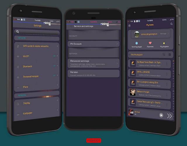 Download Tema MIUI Minimal X Theme For Xiaomi Android