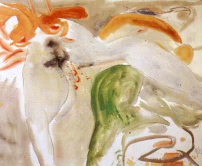 """Scene with Nude"" by Helen Frankenthaler, 1952"