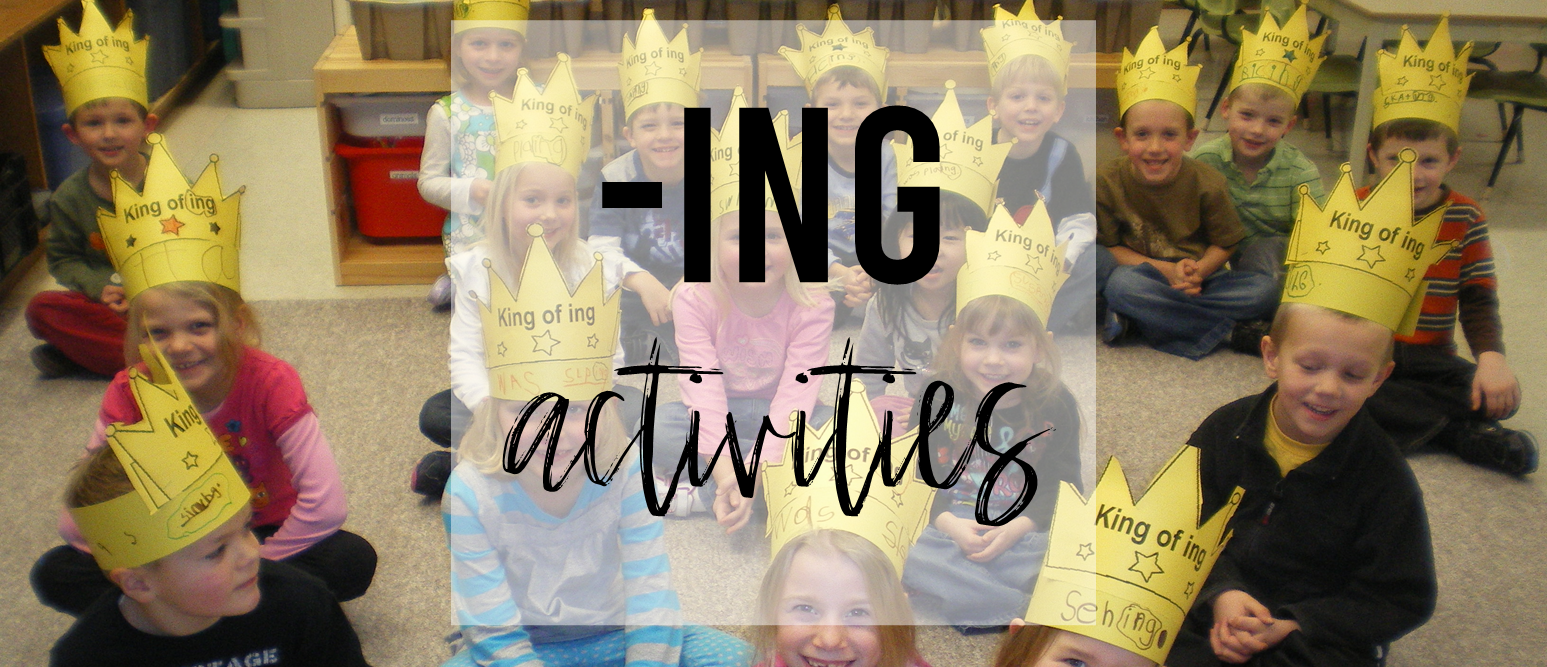 All about the ending -ING activities for Kindergarten and First Grade