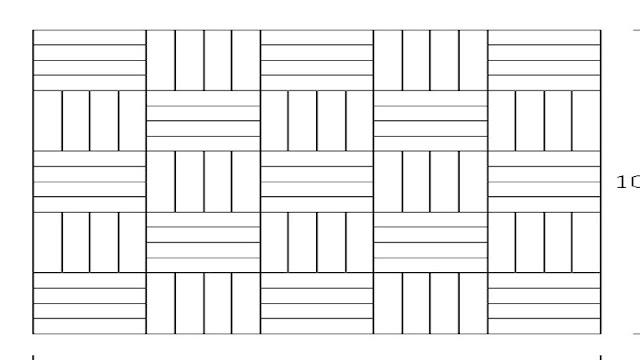 Pola pemasangan lantai kayu motif mozaik