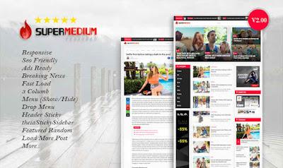 Update: Supermedium Featured Random V2.00 Responsive Blogger Template