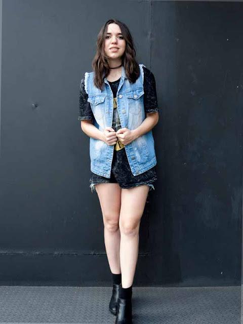 Colete jeans com bermuda
