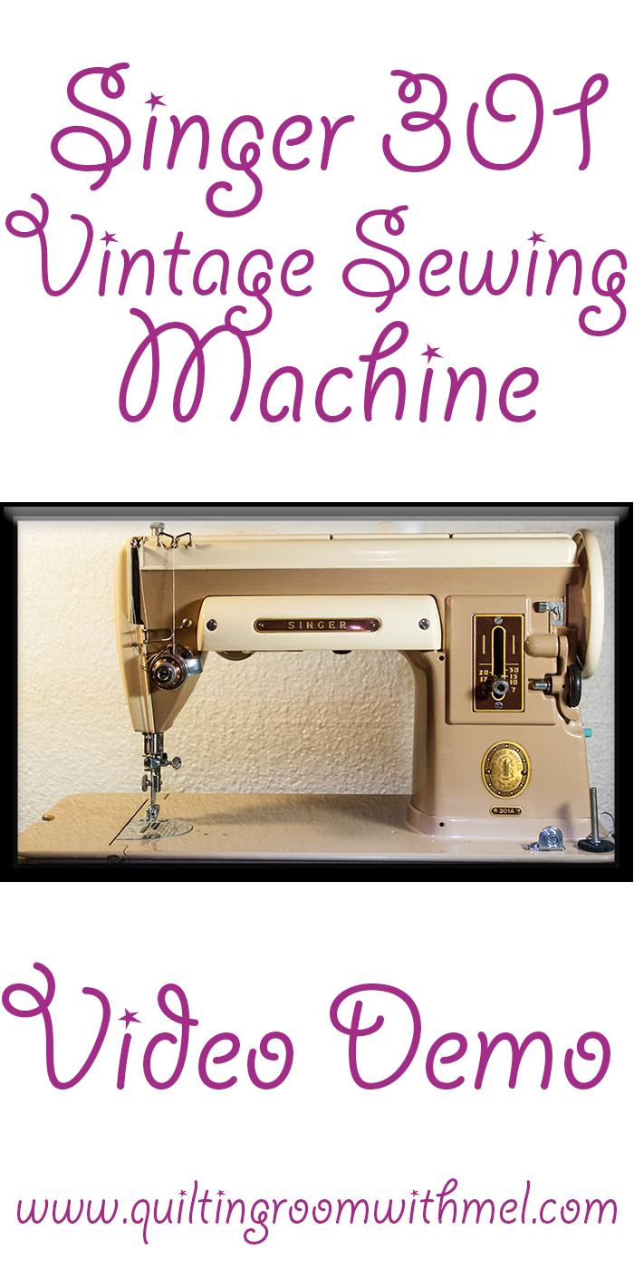 singer 301 vintage sewing machine