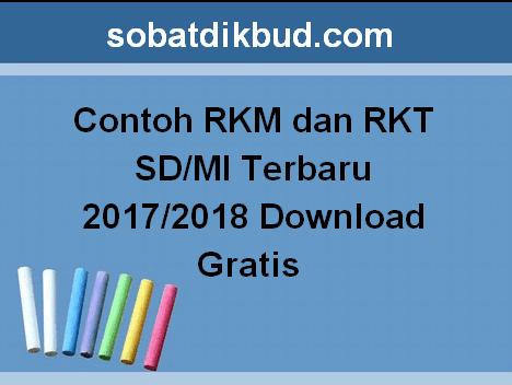 Contoh RKM dan RKT SD/MI Terbaru 2017/2018 Download Gratis