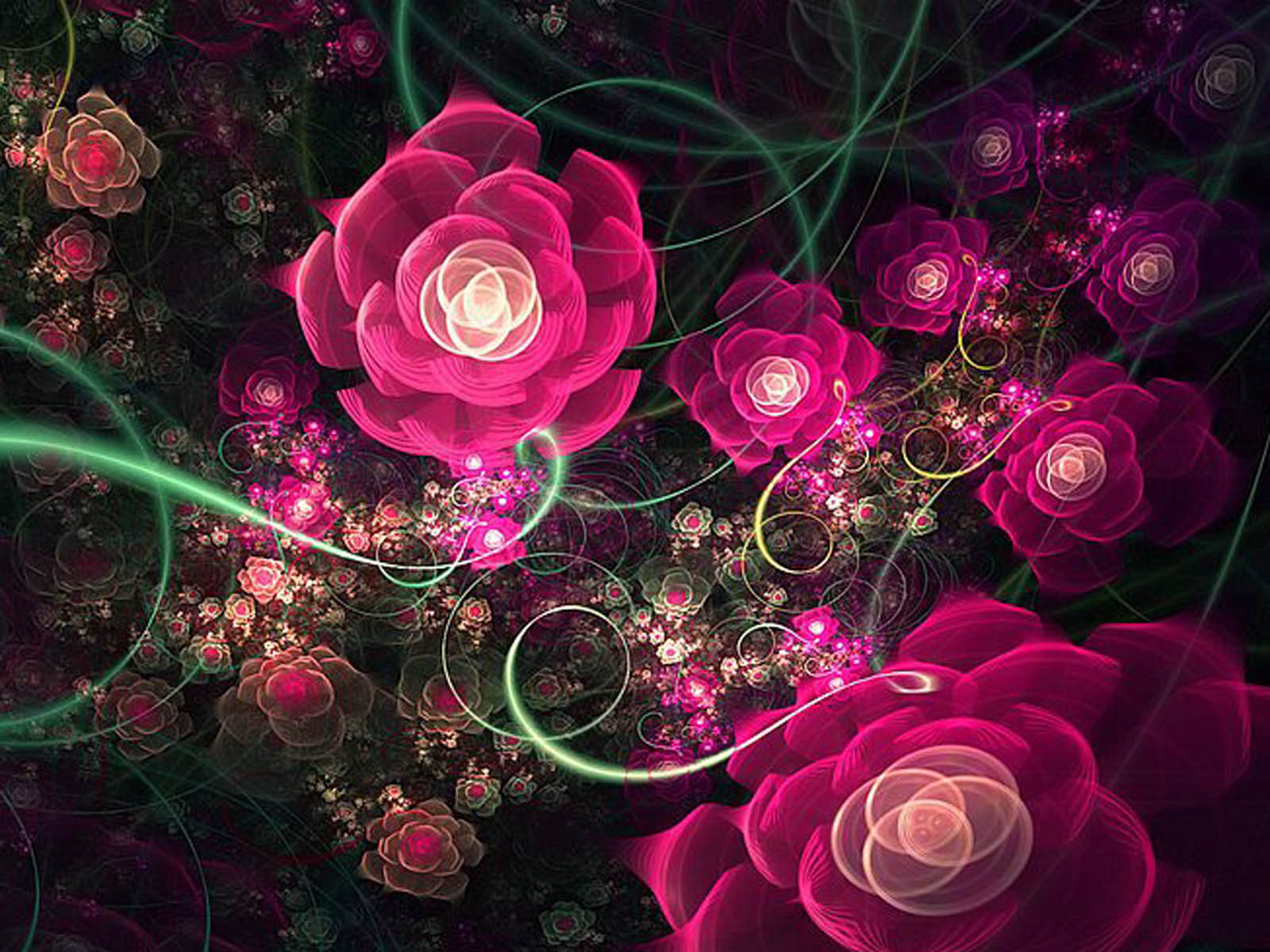 top fractal wallpapers floral - photo #29