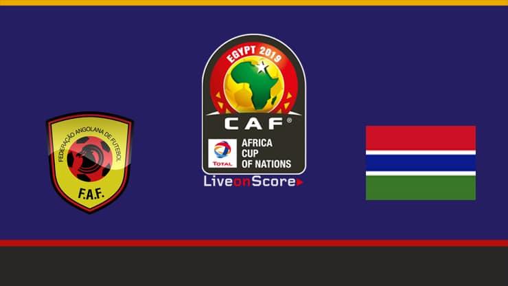 مباراة انجولا وجامبيا اليوم