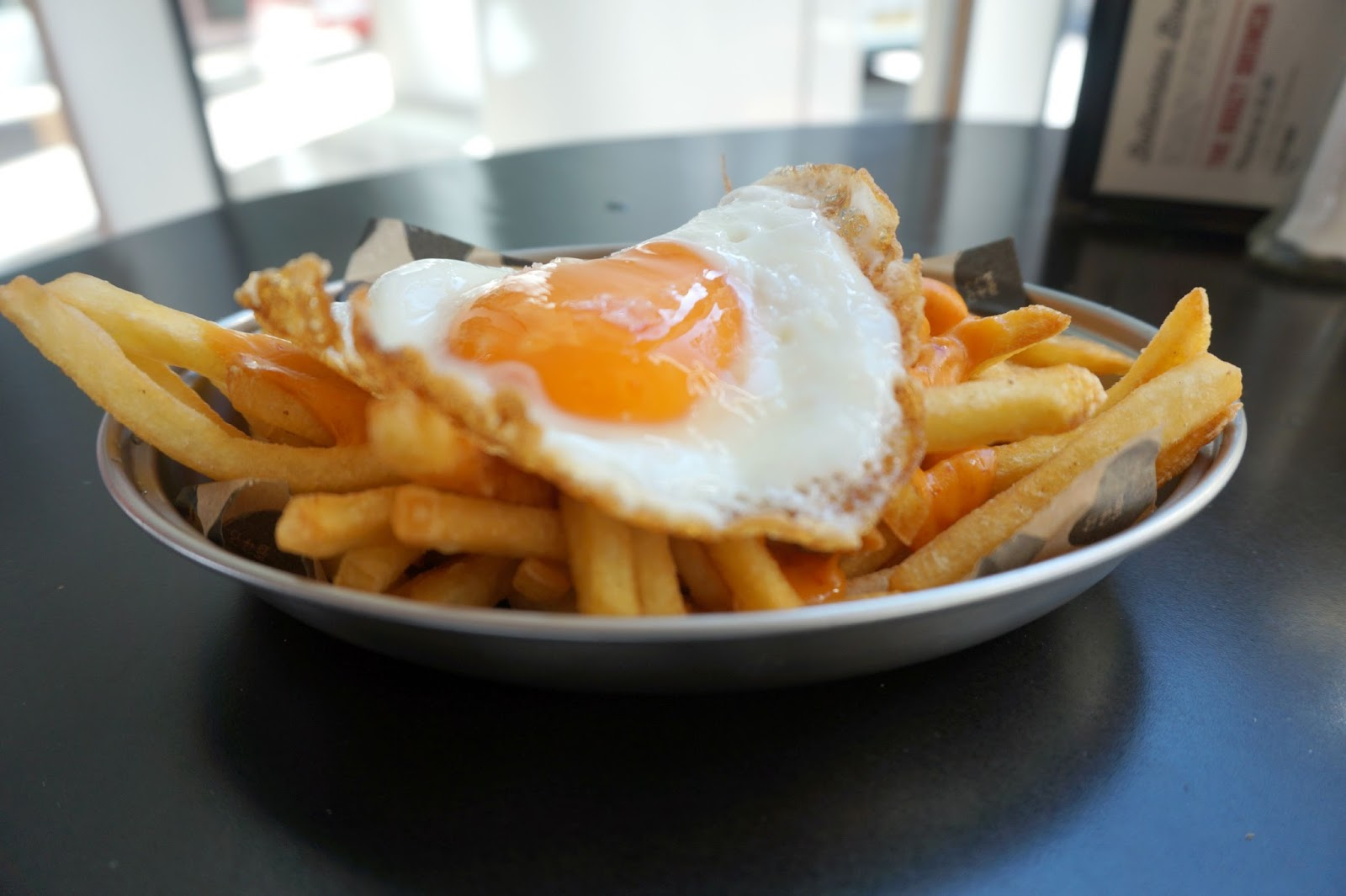 Nduja fries with fried egg
