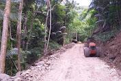Satgas TMMD Ke 111 Selayar, Kerahkan Alat Berat Untuk Timbun Lokasi Jalan Berlumpur