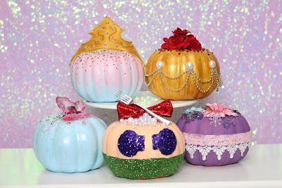Disney Princess no carve pumpkins
