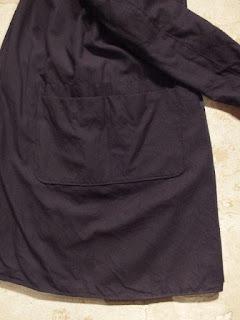 "FWK by Engineered Garments ""Reversible Coat in Blackwatch Cotton Poplin/Dk.Navy Uniform Serge"""