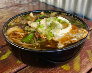 Korean beef noodle bowl at Garlic Shack