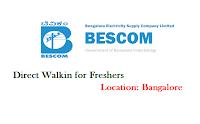 BESCOM-walkin-for-freshers