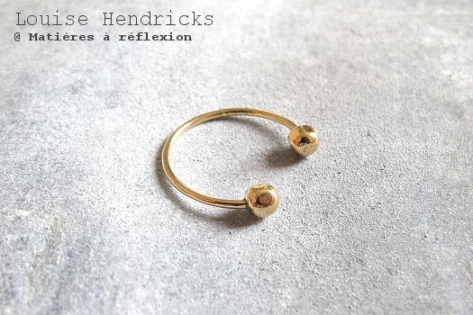 Bague de phalange doré Louise Hendricks bijoux