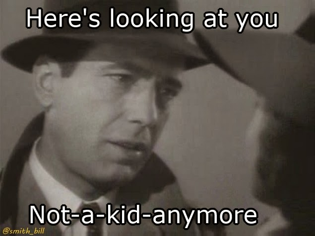 Top 10 Movie Star Birthday memes for a 40th birthday  Humphrey Bogart Casablanca