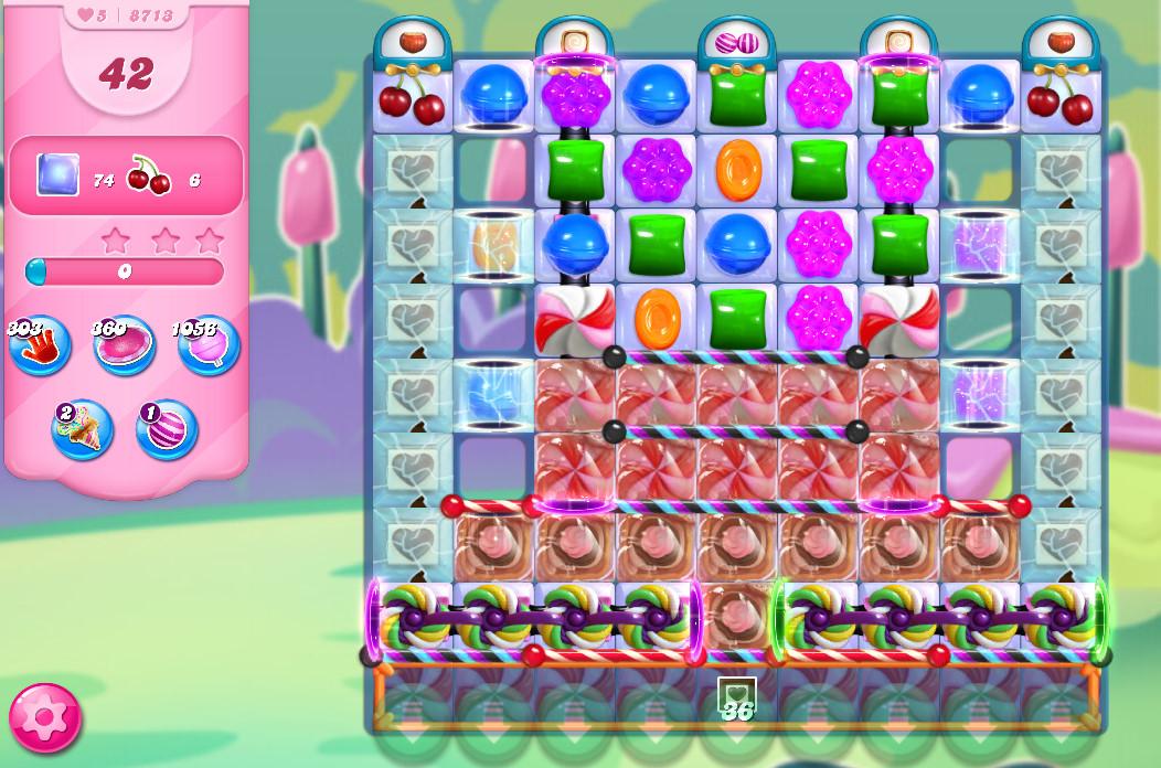Candy Crush Saga level 8713