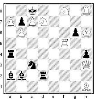 Problema de mate en 2 compuesto por Ottavio Stocchi (Racolta completa 1995)