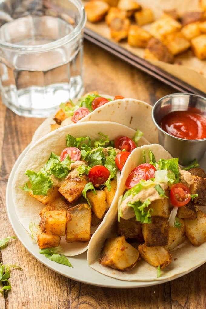 Spicy Potato Tacos | Courtesy of Connoisseurus Veg