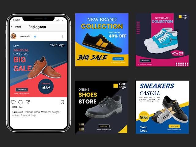 Template Social Media Post Jualan Sepatu dan Sandal