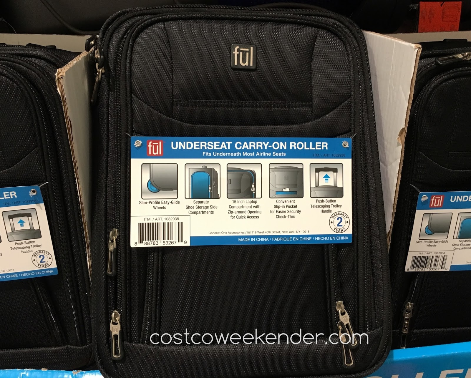 Ful Underseat Carry-on Roller Luggage - Fits underneath most airline seats