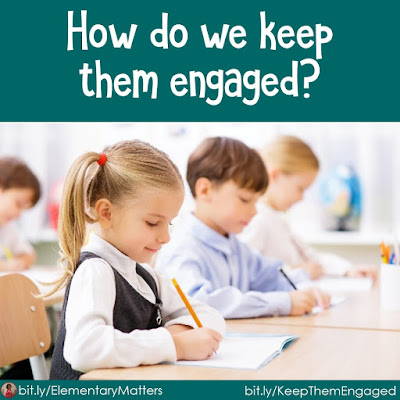 "How do we keep them engaged? Some children finish their daily work much faster than others. How can we keep them engaged without assigning ""busy work?"""
