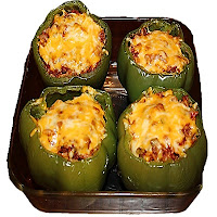 Vegetable stuffed capsicum