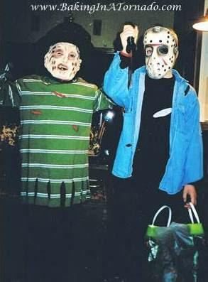 Freddie and Jason costumes | picture property of www.BakingInATornado.com