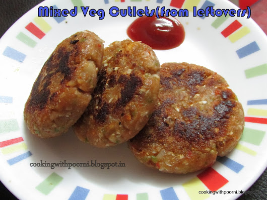 Mix Veg Cutlets(from leftovers)