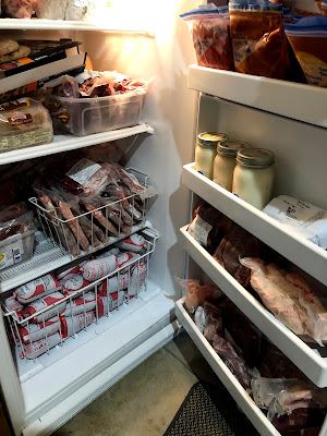 freezer filled with beef