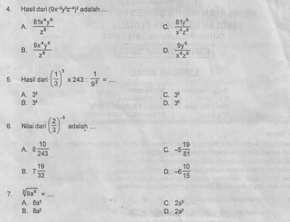 Download Contoh Soal dan Kunci Jawab Siap Penilaian Akhir Semester (PAS/UAS) Satu (1/I) Mapel Matematika SMP/MTs Kelas Sembilan (9/IX) Kurikulum 2013/K13 Tahun 2019/2020 I pdf