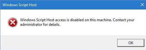 Cara Mengatasi Windows Script Host Access Disabled Windows - THE 330K