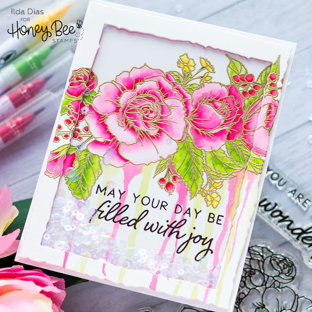 Filled with Joy Shaker Card | Honey Bee Stamps by ilovedoingallthingscrafty.com
