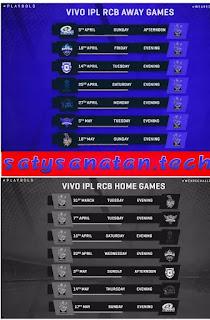 IPL 2020: Royal Challenger Banglore fixture,squad, player list, schedule,match Timing, venue