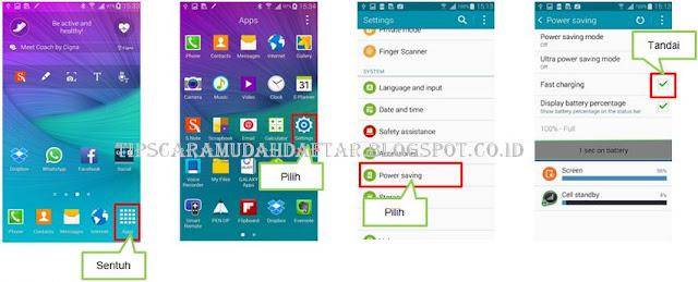 Mengaktifkan Fast Charging di Samsung Galaxy Note4