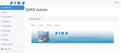 Dashboard - Source Code Sistem Informasi Rumah Sakit Berbasis Web Gratis