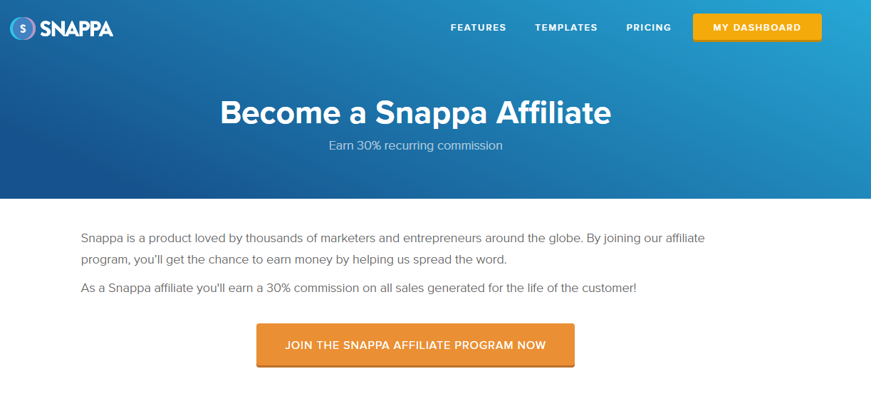 Snappa online image editing affiliate