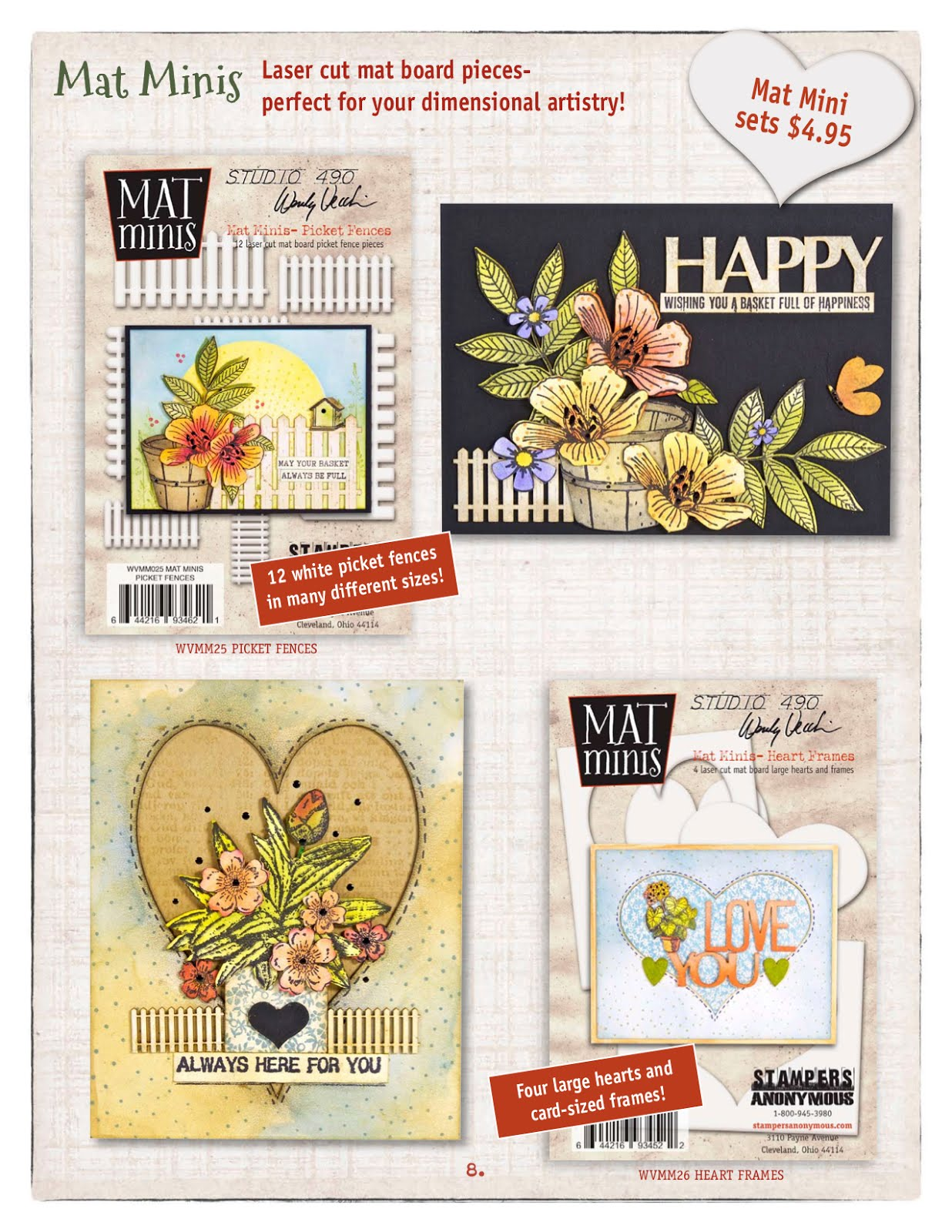 Studio 490: NEW STAMP/Stencil sets & mat minis from Stampers