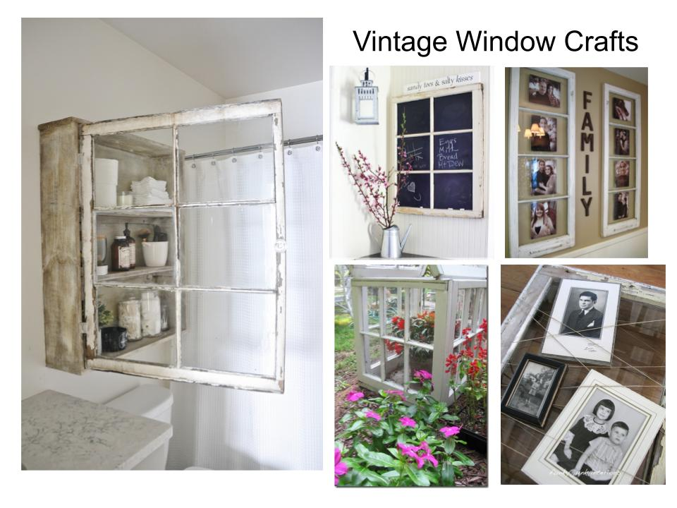 Repurpose and Upcycle vintage windows into charming home decor