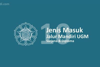 10 Jenis Jalur Masuk Mandiri UGM 2020 - Bebas Uang Pangkal